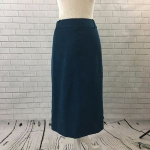 Dressbarn Blue Midi Length Straight Skirt